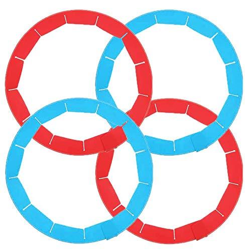 WENTS Silikon Pie Crust Shield 4 Stücke Silikon Kuchen Schutz Einstellbare Pasteten Krusten Schutz Küchen Werkzeug für Back Pasteten Passen 8 Zoll bis 11,4 Zoll Durchmesser Pasteten (Rot/Blau)
