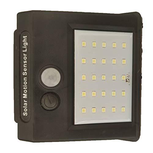 Tree-es-Life Impermeable, 25 LED, energía Solar, Sensor de Movimiento PIR, luz de Pared para jardín, luz Exterior para el hogar con Cuentas LED, Negro