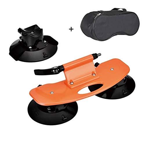 Portabicicletas Porton Trasero, Coche Stand Carrier Portátil Ventosa Deportes Y Aire Libre Turismo Cámping Accesorios De Bicicleta Techo Bastidores (Color : Orange)