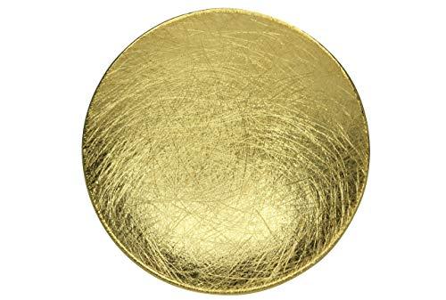 SILBERMOOS Anhänger vergoldet Kreis Scheibe Schale Teller rund gebürstet 925 Sterling Silber