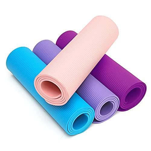 N\C Estera de yoga, Estera de yoga con logotipo imprimible, Estera de yoga principiante, Estera de soporte de tablón, Estera de yoga de fitness, Estera de cuerda de saltar, Estera de yoga