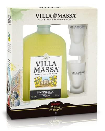 Villa Massa Limoncello - Pack Botella 700 ml + 2 vasos chupitos