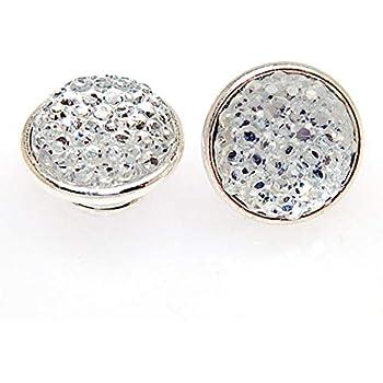 Color: Aquamarine Laliva 925 Silver Plated Resin Pave Kameleon Jewelpops Fits DIY Charm Bracelets Necklace Ring Making