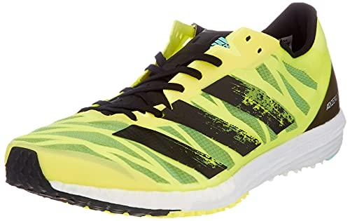 adidas Adizero Takumi Sen 7, Zapatillas para Correr Hombre, Solar Yellow/Silver Met./Clear Aqua, 46 EU