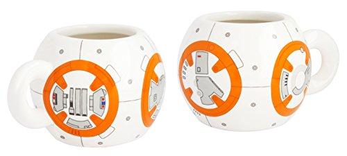 Star Wars 21827 - BB-8 Set: 2 Espressotassen in Keramik in Geschenkverpackung, 8 x 8 x 10 cm