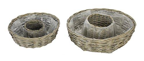 Decoline Holz Pflanz-Ringe 2er Set