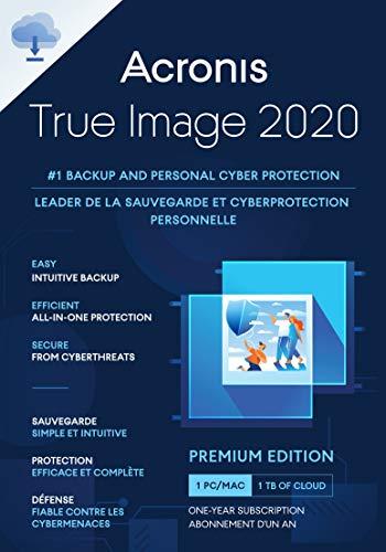 Acronis True Image 2020 | Premium Edition 1TB Cloud Storage | 1 Gerät | 1 Jahr | PC/Mac | Aktivierungscode per Email
