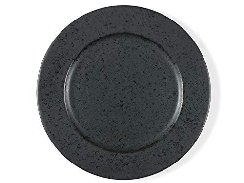 BITZ Teller/Speiseteller/Essteller aus Steinzeug, 27 cm im Durchmesser, schwarz