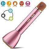 Micro Karaoké,Bluetooth Sans Fil Karaoke Microphone,Mini Portable Micro Karaoke...