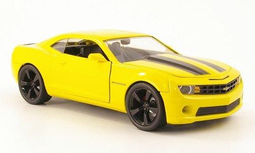 Chevrolet Camaro SS, gelb/schwarz, 2010, Modellauto, Fertigmodell, Jada 1:24