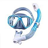 Máscara de snorkel seca completa para niños, sistema de respiración...