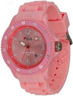 Fila Summertime - FA-1023-60 - Montre Mixte - Quartz Analogique - Cadran Rose - Bracelet Silicone Rose