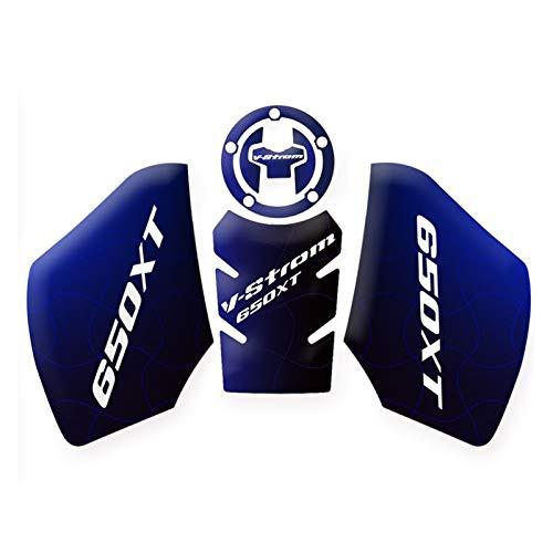 Protector para Depósito Almohadilla Protectora para Suzuki DL650XT V-Strom Vstrom 2019 2020 Accesorios De Motocicleta Motor Protector Antideslizante para Tanque (Color : Azul)