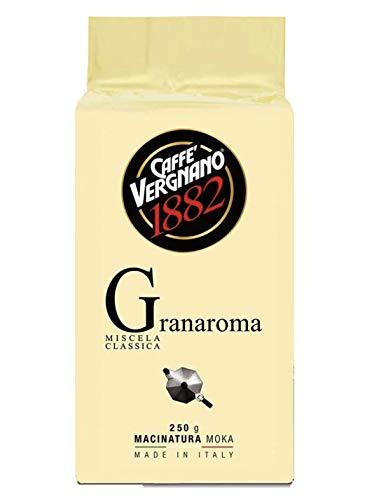 Vergnano Gran Aroma - 12 sacchetti di caffè macinato da 250 gr - 3 Kg totali