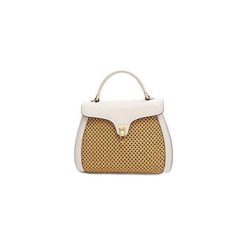 Coccinelle Tasche Marvin Medium Stroh, Farbe Elfenbein, Elfenbein - elfenbein - Größe: Einheitsgröße