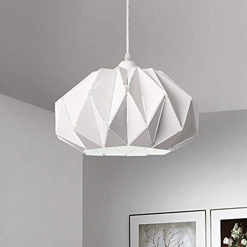 Lámpara Colgante Minimalista Moderna LED araña Redonda de Origami Hierro Forjado Sala de Estar Sala de Estar Dormitorio Luz de Techo 37 X 20cm Vale la pena Tener