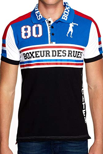 Boxeur des rues - Man Polo with Cuts and Patches, Man
