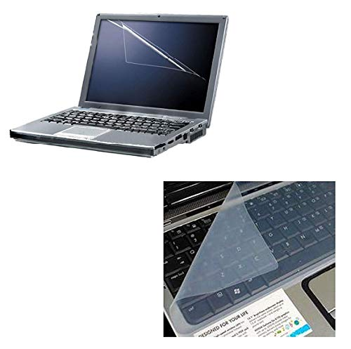 Fedus 2in 1 Combo of 15.6 inch Laptop Screen Guard and Key Guard Combo Set