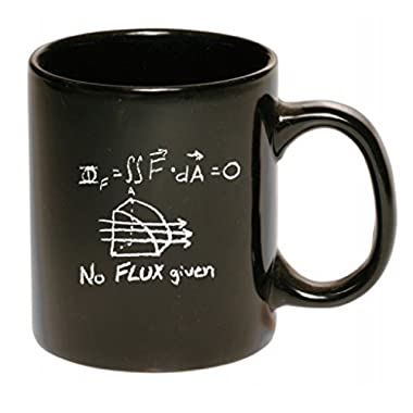 Funny Guy Mugs No Flux Given Ceramic Coffee Mug, Chalkboard Style, Black, 11-Ounce