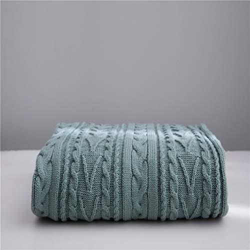 Literie Throw en peluche en microfibre Tissu léger et doux Réchauffez Couverture Canapé Canapé,Vert,130x160cm