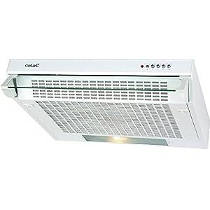 CATA F 2060 WH 220 m³/h De pared Blanco D – Campana (220 m³/h, Canalizado/Recirculación, F, g, E, 60 dB)