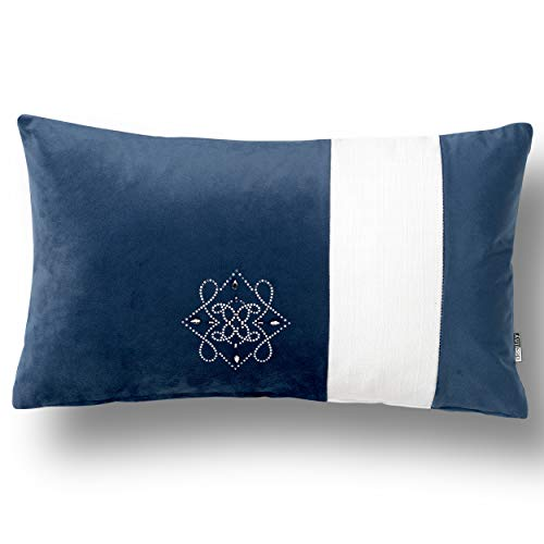 Swarovski by Kimlor Mills Pillow, Navy Blue