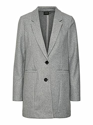VERO MODA Damen VMDAFNEJANEY Jacket GA Jacke, Light Grey Melange, L