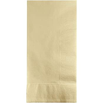 Creative Converting Touch of Color 100 Count 2-Ply Paper Dinner Napkins Ivory  16  x 16  - 279161