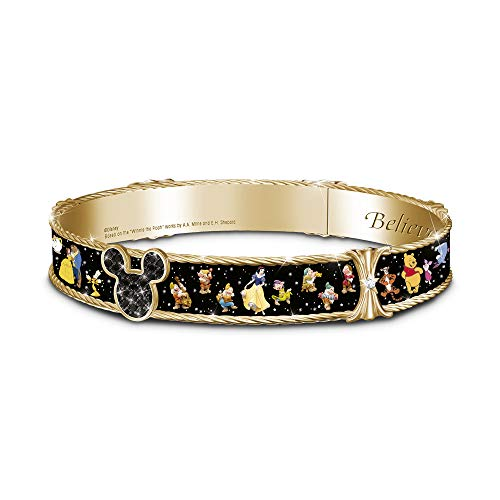 'Ultimate Disney' Bangle Bracelet – An officially licensed Disney ladies' bracelet design with 29 colourful characters and 20 genuine Swarovski crystals. The Bradford Exchange.