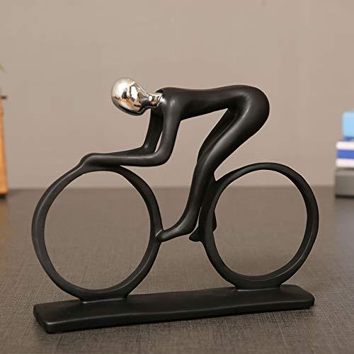 Xiaohong Modische Sport-Figur, Sport-Figur, Kunstharz, Ornamente, einfache Heimdekoration, kreativer Weinschrank, Ornament für Zuhause & Büro, Schreibtisch, einzigartige Dekoration Fahrrad