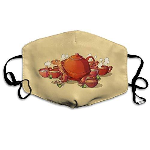 U Shape Tee Turtle Teaturtle Teekanne Teekessel Gedruckt Dust Face Cover Waschbar Wiederverwendbar, Staubdicht, Radfahre