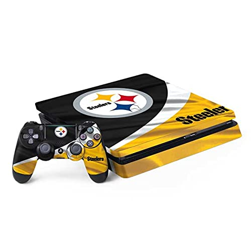 Skinit Decal Gaming Skin Compatible with PS4 Slim Bundle - Officially Licensed NFL Pittsburgh Steelers Design