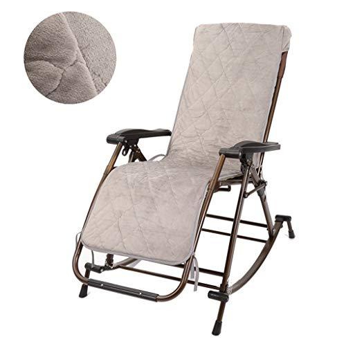 Mecedora Tumbona, Relajación Plegable reclinable Zero Gravity Cojín de Terciopelo Grueso con...