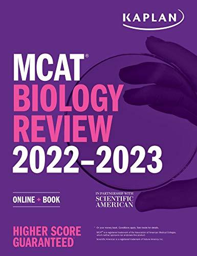 MCAT Biology Review 2022-2023: Online + Book (Kaplan Test Prep)