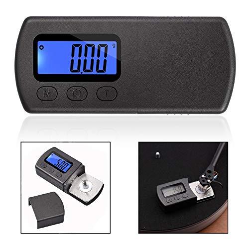 Xrten Digitale draaitafel Stylus, platenspeler weegschaal LCD achtergrondverlichting voor geluidsabsorberende platenspeler