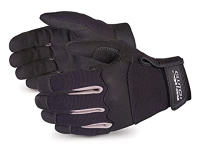 Superior MXBL Clutch Gear Leather Mechanics Glove, Work, Black (Pack of 1 Pair)