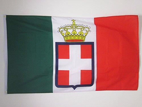 AZ FLAG Drapeau Royaume d'Italie Couronne 150x90cm - Drapeau Italien Marine Militaire 90 x 150 cm - Drapeaux