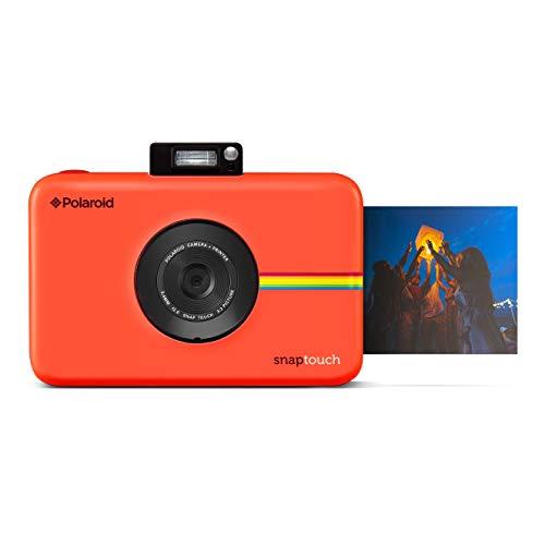 Polaroid Snap Touch - Fotocamera digitale a stampa istantanea Zink Zero con schermo LCD, rosso