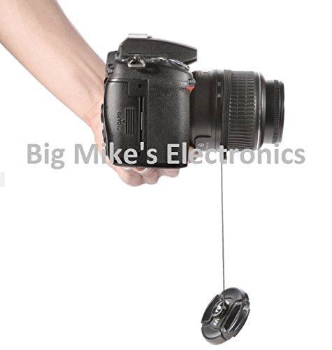 58mm Universal Snap-On Lens Cap For Olympus M.Zuiko 40-150mm f/4.0-5.6 R Micro ED Digital Zoom Lens + Cap Keeper + MicroFiber Cleaning Cloth