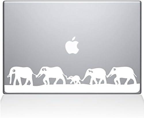 The Decal Guru Elephant March MacBook Decal Vinyl Sticker 12 MacBook White 0152 MAC 12M W product image