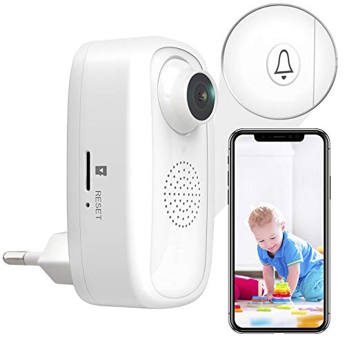 7links Steckdosenkamera: Steckdosen-Full-HD-IP-Kamera, WLAN, App, für Echo Show & Google Nest (Überwachungskamera Mini)