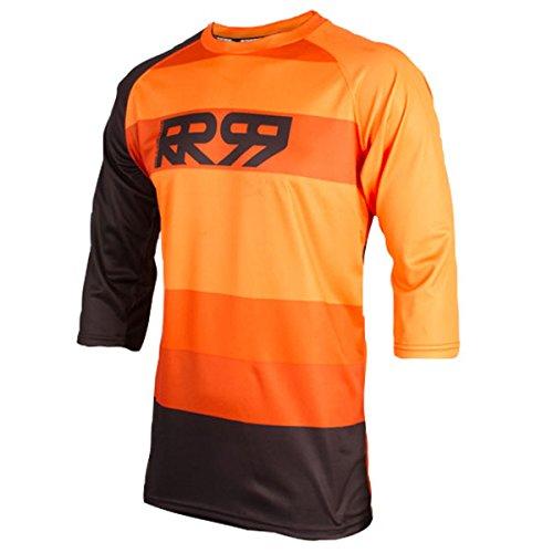 Royal Racing Drift 3/4-orange/noir-XL Maillot Manches 3/4 Homme, Orange/Noir, FR (Taille Fabricant : XL)