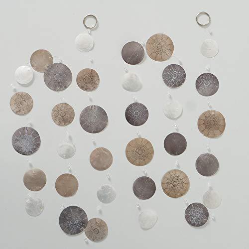Boltze Home Collections Capiz-Girlande 2er Set, L 180 cm (Natur)