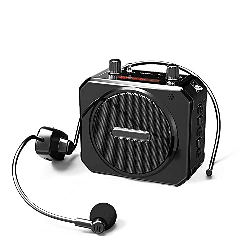 New Type of Bluetooth Voice Amplifier Portable UHF Wireless Loudspeaker with Microphone Belt Support USB AUX TF FM Broadcast Player Mini Speaker Protection to Protect The Voice