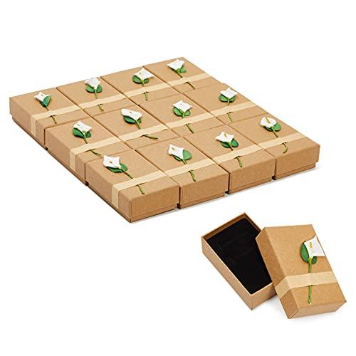 Pezzi set regalo–Lily Jewelry Box per compleanni, matrimoni, compleanni–8,9x 2,5x 5,6cm