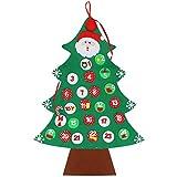 Achort Calendario de Cuenta Regresiva de Navidad, Bricolaje, decoración de árbol de Navidad, Calendario de Adviento, para Colgar en la Pared Adornos