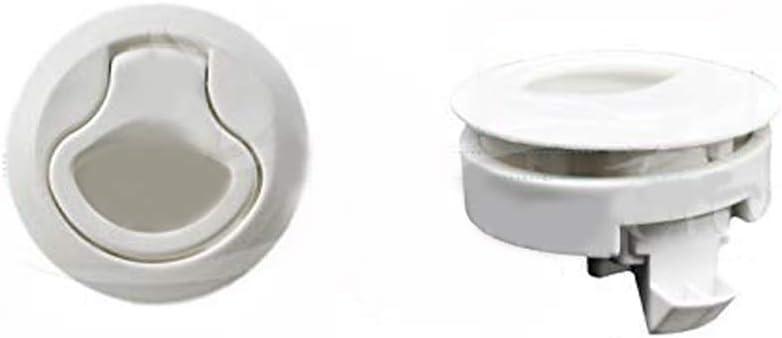 MARINE CITY 2-2//5 Nylon White Round Hatch Flush Pull Stem Latch