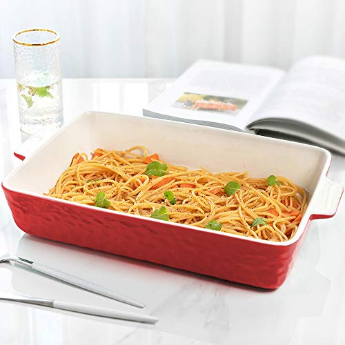 Baking Dishes, Krokori Rectangular Bakeware Set Ceramic Baking Pan Lasagna Pans for Cooking, Kitchen, Cake Dinner, Banquet and Daily Use - 13 x 9 Inches