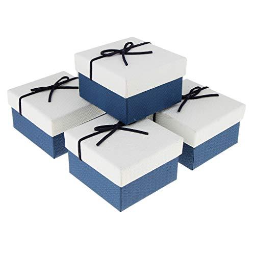 Bonarty 5 Stück Papierschachteln Für Hochzeits Gastgeschenke, Geschenkboxen, Weiß Blau