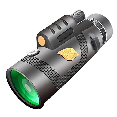 SOLUSTRE Monokular Teleskop 12X50 Handy Kamera Objektiv Zielfernrohr Nachtsicht mit Smartphone Adapter Stativ für Vogelbeobachtung Jagd Camping
